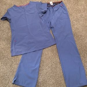 Siel blue heart soul scrubs